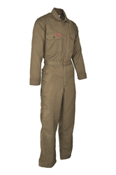 Lapco 6.5 oz. DH FR Deluxe 2.0 Coverall - Khaki flame, resistant, retardant, contractor, tan, welder