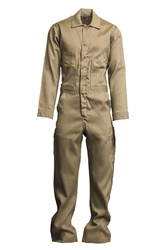 Lapco 6 oz. FR Deluxe Lightweight Coveralls - Khaki flame, resistant, retardant, contractor, welder, light, weight, tan