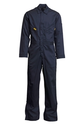 Lapco 6 oz. FR Deluxe Lightweight Coveralls - Navy flame, resistant, retardant, contractor, welder, light, weight