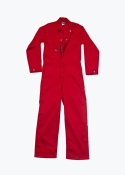 Lapco 7 oz. FR Deluxe Contractor Coverall - Red
