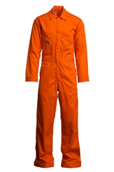 Lapco 7 oz. FR Deluxe Coverall - Orange flame, resistant, retardant, contractor, welder