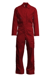 Lapco 7 oz. FR Deluxe Coverall - Red flame, resistant, retardant, contractor, welder