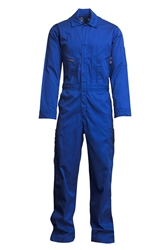Lapco 7 oz. FR Deluxe Coverall - Royal Blue flame, resistant, retardant, contractor, welder