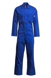 Lapco 7 oz. FR Economy Coverall - Royal Blue flame, resistant, retardant, contractor, welder
