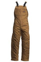 Lapco FR 9 oz. Insulated Bib Overalls - Brown flame, resistant, retardant, over, all, tan, khaki