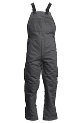 Lapco FR 9 oz. Insulated Bib Overalls - Gray flame, resistant, retardant, over, all, grey