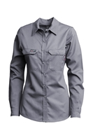 Lapco FR Women's Advanced Comfort Uniform Shirt - Gray flame, resistant, retardant, work, button down, grey, womens, ladies