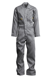 Lapco 6 oz. FR Deluxe Lightweight Coveralls - Gray flame, resistant, retardant, contractor, welder, light, weight