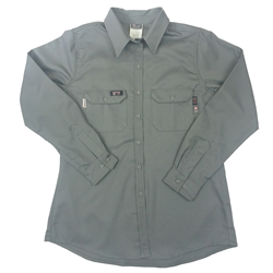 Lapco Women's FR Advanced Comfort Uniform Shirt - Grey