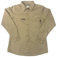 Lapco Women's FR Advanced Comfort Uniform Shirt - Khaki