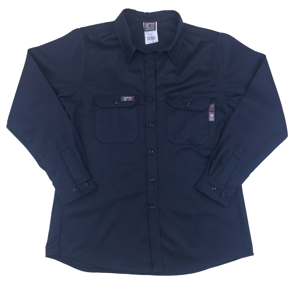 5c8b88763fe8 Lapco Ladies Fire Resistant Navy Uniform Shirt