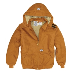 Rasco FR 10 oz. Hooded Jacket - Brown Duck flame, resistant, retardant