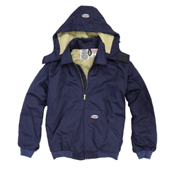 Rasco FR 10 oz. Hooded Jacket - Navy flame, resistant, retardant