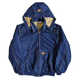 Rasco FR Hooded Jacket - Denim