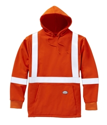 Rasco FR 12.5 oz. Inherent Hi Vis Pullover Hoodie - Orange flame, resistant, retardant, sweatshirt, hooded, high, vis, visibility, florescent, red