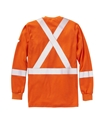Rasco FR Hi Vis Long Sleeve Shirt with Reflective Trim - Orange - FR0310OH