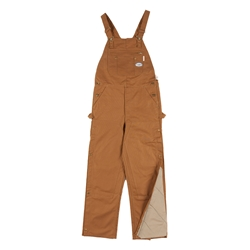 Rasco FR Insulated Bib Overalls - Brown Duck flame, resistant, retardant