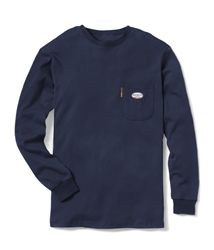 Rasco FR Long Sleeve Crew Neck T-Shirt - Navy