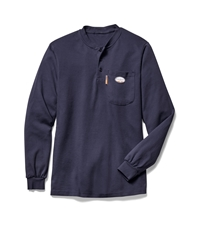 Rasco Fire Resistant Henley T-Shirt - Navy