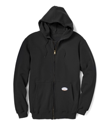 Rasco Flame Resistant 10 oz Black Hooded Sweatshirt