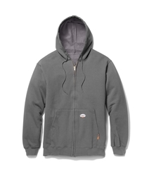 Rasco Flame Resistant 10 oz. Zip Up Hoodie - Gray flame, resistant, retardant, jacket, sweatshirt, hooded, grey