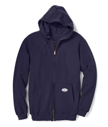 Rasco Flame Resistant 10 oz. Zip Up Hoodie - Navy flame, resistant, retardant, jacket, sweatshirt, hooded