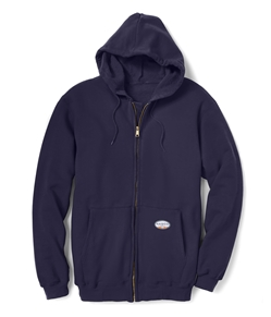 Rasco Flame Resistant 10 oz Navy Hooded Sweatshirt