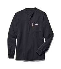 Rasco Flame Resistant Henley T-Shirt - Black
