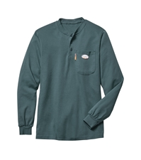 Rasco Flame Resistant Henley T-Shirt - Green