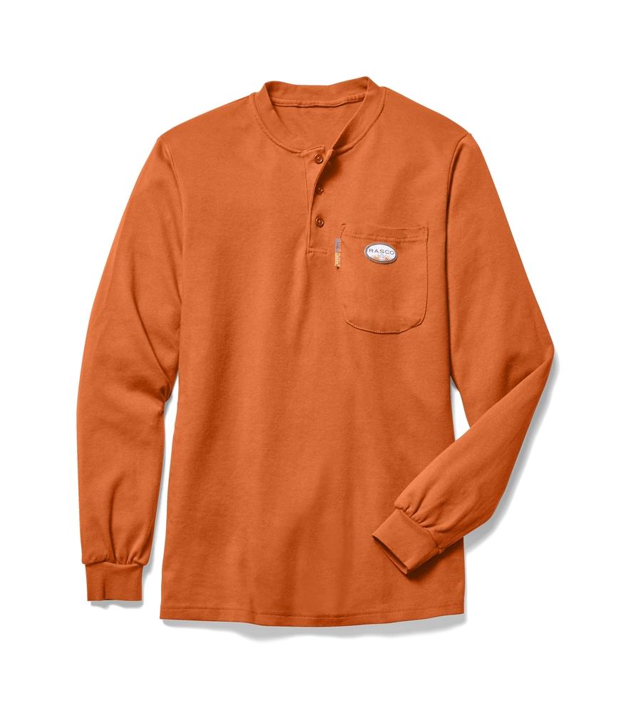 Rasco flame resistant orange t shirt otf455 for H m mens henley t shirt long sleeve