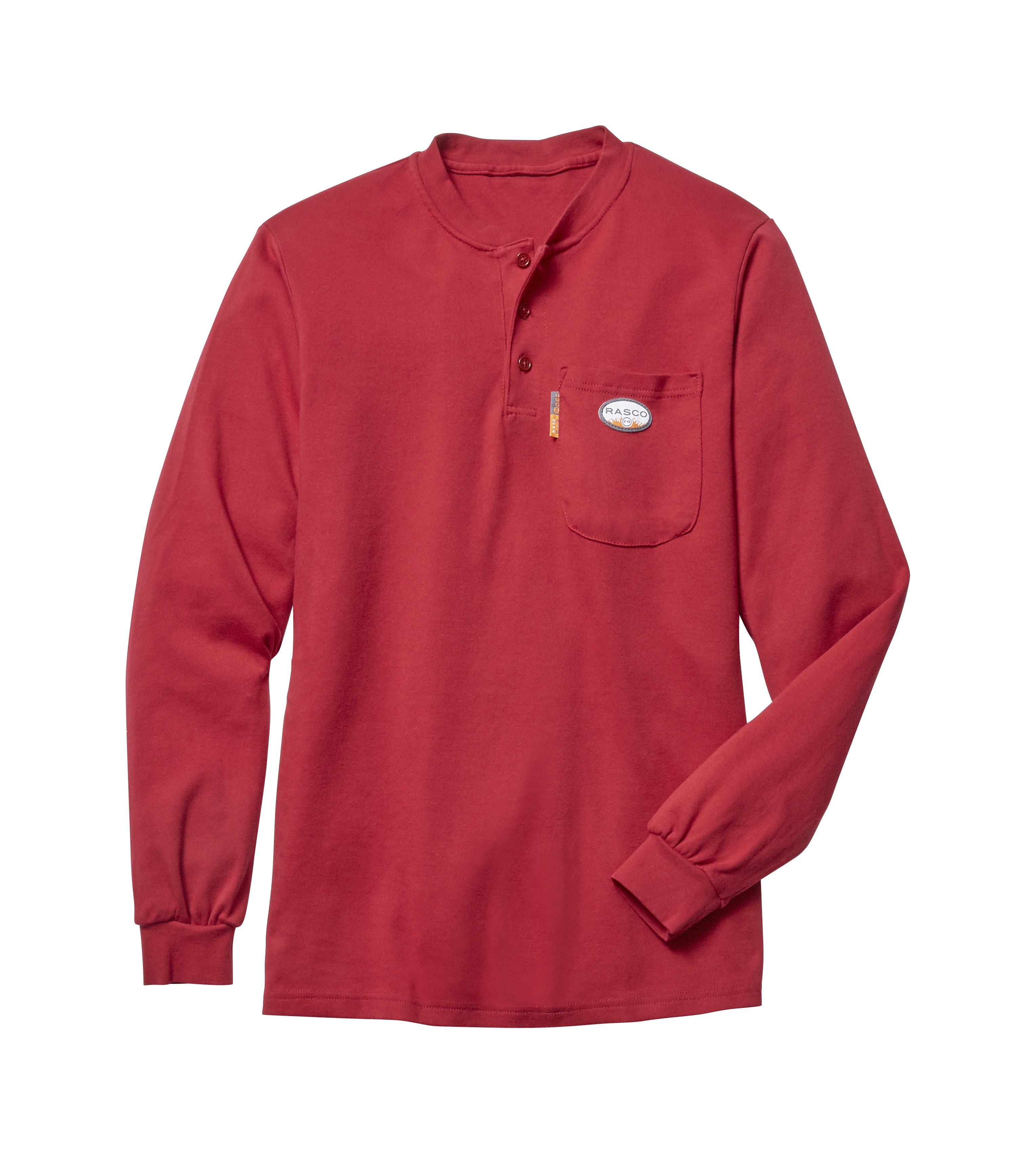 Rasco Flame Resistant Henley T-Shirt - Red