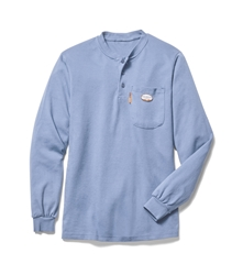 Rasco Flame Resistant Henley T-Shirt - Work Blue