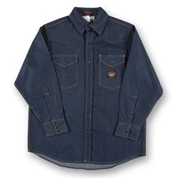 Rasco Flame Resistant Lightweight Work Shirt - Denim