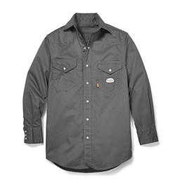 Rasco Flame Resistant Lightweight Work Shirt - Gray