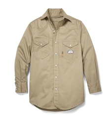 Rasco Flame Resistant Lightweight Work Shirt - Khaki