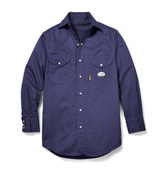 Rasco Flame Resistant Lightweight Work Shirt - Navy