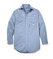 Rasco Flame Resistant Lightweight Work Shirt - Work Blue