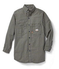 Rasco Flame Resistant Plaid Dress Shirt - Green Plaid
