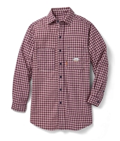 Rasco Flame Resistant Plaid Dress Shirt - Red Plaid