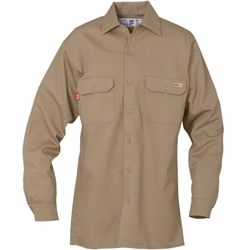 Reed Khaki FR 88/12 Cotton Blend Shirt