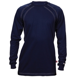 Reed Navy FR Crew Cotton Jersey Shirt