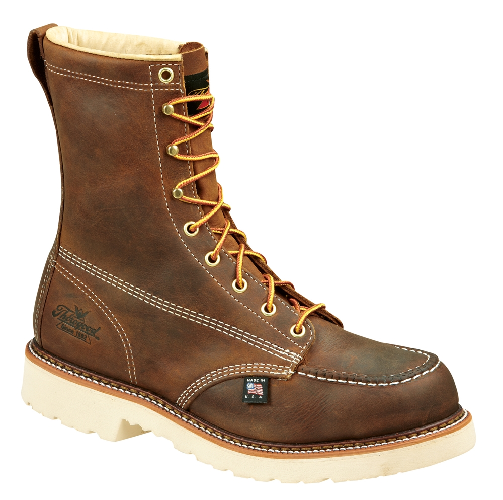 Thorogood Steel Toe Work Boots 8 Quot Moc Safety Toe Usa