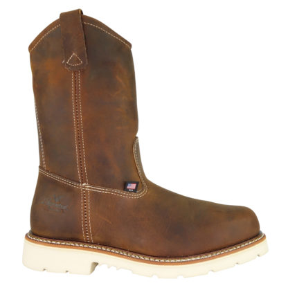 "Thorogood Mens American Heritage 11"" Crazy Horse Safety Toe Wellington"