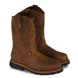 "Thorogood Mens American Heritage 11"" Trail Crazy Horse Safety Toe Wellington"