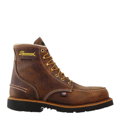 "Thorogood Men's American Heritage 6"" Waterproof Crazy Horse Safety Toe 