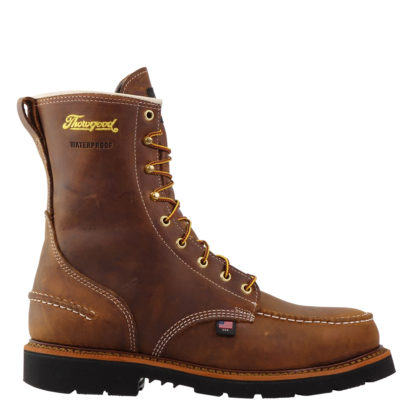 "Thorogood Mens American Heritage 8"" Waterproof Crazy Horse Safety Toe 