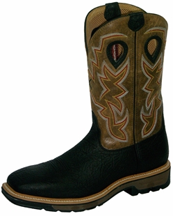 Twisted X Lite Weight Black Cowboy Work Pull-On - Steel Toe
