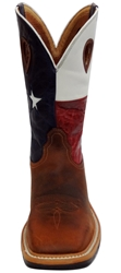 Twisted X Lite Weight Texas Flag Cowboy Work Pull-On - Steel Toe light, lightweight, pull, on