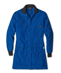 Workrite 4.5 oz Nomex IIIA Flame Resistant and Chemical Protection Womens Royal Blue Lab Coat