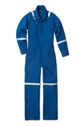 Workrite 4.5 oz. Nomex IIIA Royal Blue Industrial Coverall With Reflective Tape